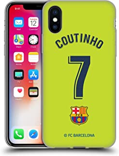 Official FC Barcelona Philippe Coutinho 2018/19 Players Away Kit Group 1 Soft Gel Case Compatible for iPhone X/iPhone Xs