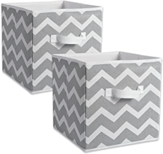 DII Chevron Storage Bin, Large 13x13x13