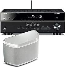 Yamaha RX-V481 5.1-Channel AV Receiver with WX-030 MusicCast Wireless Speaker (White)