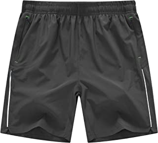 TBMPOY Men's 7'' Quick Dry Active Running Workout Shorts with Mesh Liner Zip Pockets