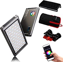Falcon Eyes F7 II 12W RGB LED Video Light 2500K-9000K Support APP Control with OLED Display,Supporting QC3.0 Fast Charging
