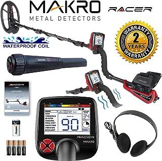 Makro Racer Metal Detector Standard Package w/ 11x7 Waterproof Coil & Pinpointer
