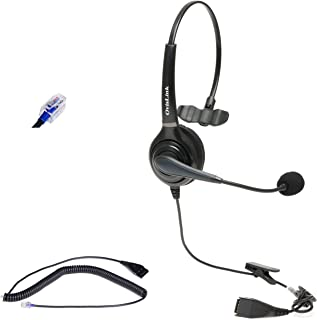 FortiFone & Talkswitch Phones Headset for Professional Call Center & Office, Noise Canceling & HD Voice Quality, Flexible ...