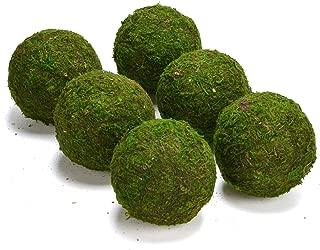 ByYou 6 Pack Eco-Friendly Handmade Green Moss Balls Decor,Full Size (3.5