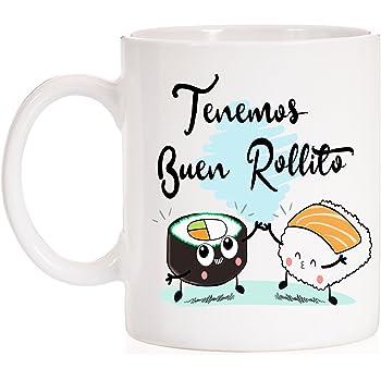MardeTé Taza Tenemos Buen Rollito. Taza Divertida de Amor o Amistad de Regalo. Ideal con Caja Decorativa Muy Divertida.: Amazon.es: Hogar