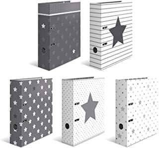 HERMA Motif classeur à levier A4 Étoiles assortiment, dos de 7 cm, en carton robuste, imprimé entièrement à l'extérieur et...