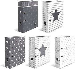 comprar comparacion HERMA 7188Surtido cartón diseño carpeta estrellas DIN A4, 70mm de ancho, varios motivos, Juego con 10unidades)