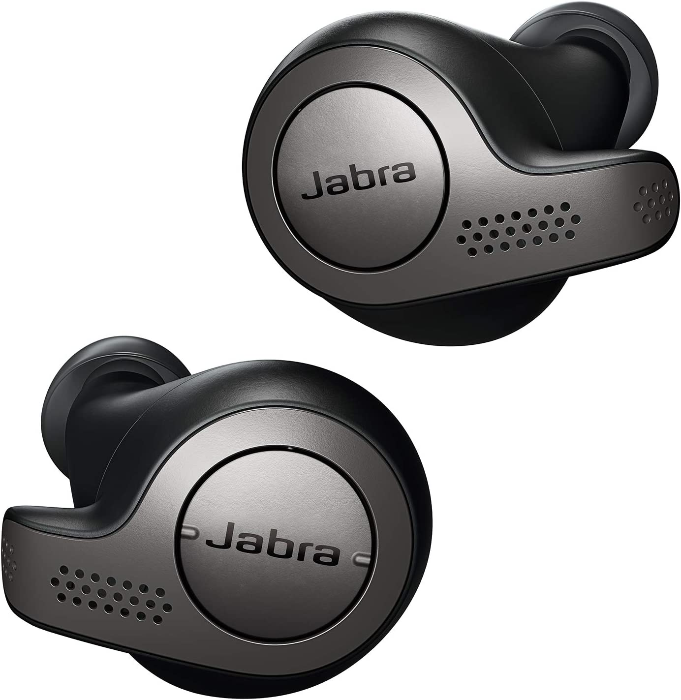Jabra Elite 65t Alexa Enabled True Wireless Earbuds with Charging Case - Titanium Black (Renewed)