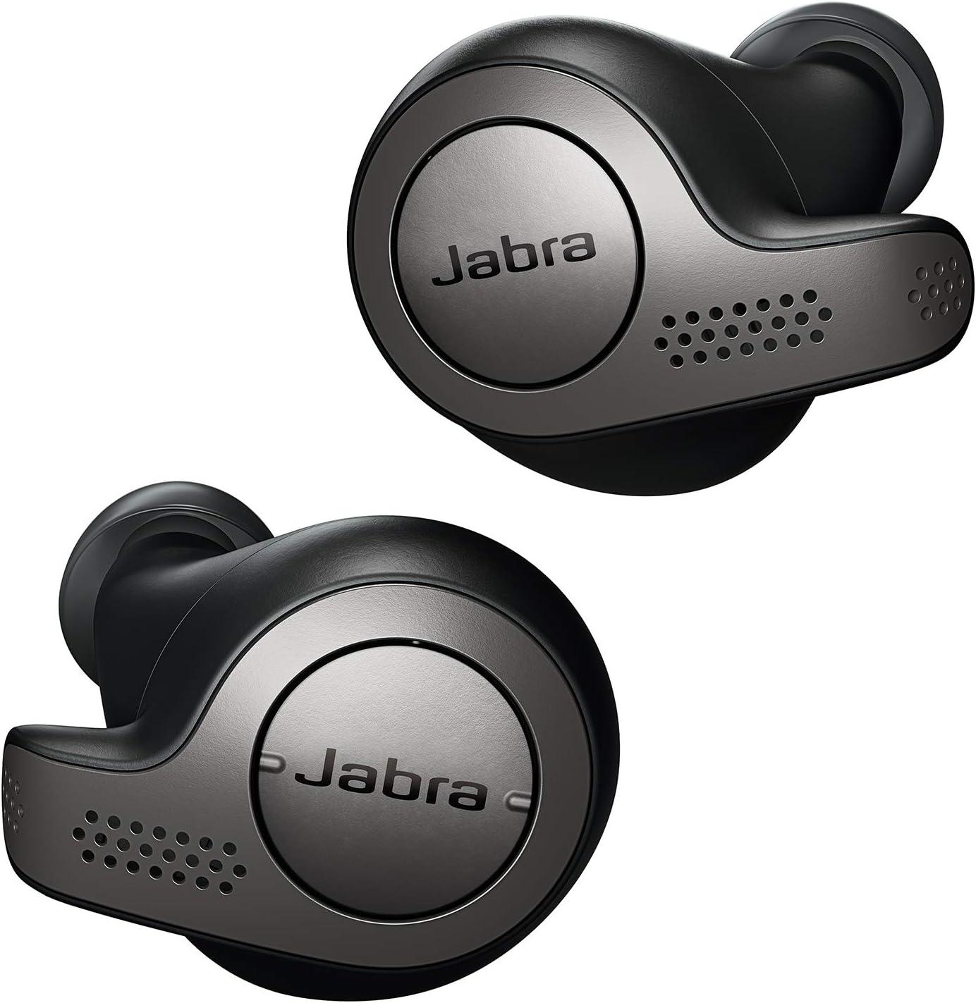 Jabra Elite 65t Alexa Enabled True Wireless Earbuds with Charging Case - Titanium Black (Renewed)