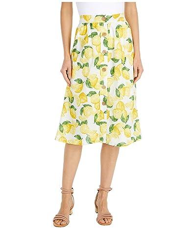 BCBGeneration Pull-On Button Front Skirt TTE3286267 (Optic White) Women