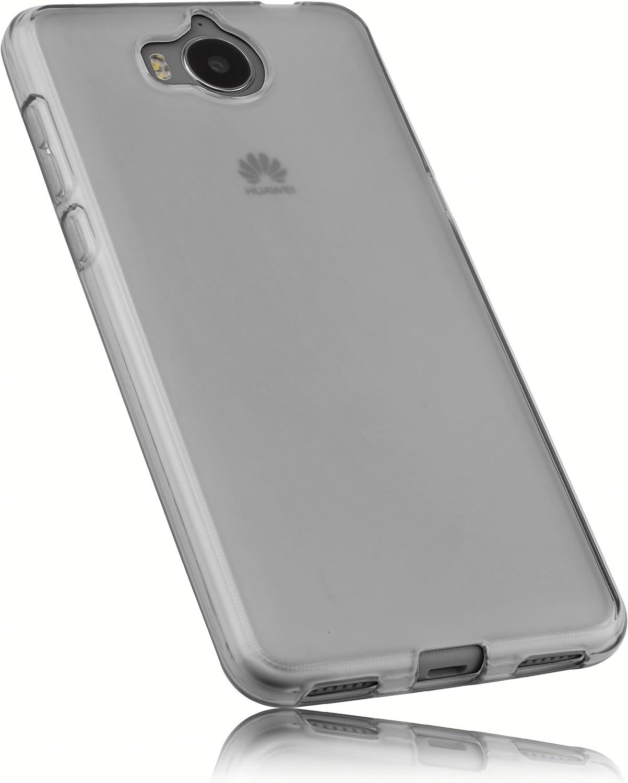 Mumbi Hülle Kompatibel Mit Huawei Y6 2017 Handy Case Handyhülle Transparent Weiss Elektronik