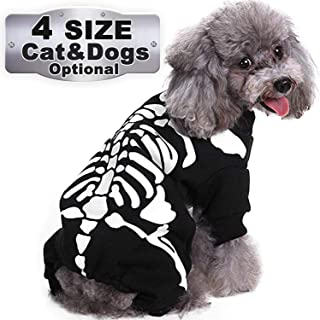 Halloween Costume for Pets Dogs Cats Bat Wings Spider Skeleton Sweatshirt Cosplay Apparel Clothes Pets Dogs Cat Hallowen Funny Dog Puppy Cat Theme Party Costume for Small Medium Large Dog Costume