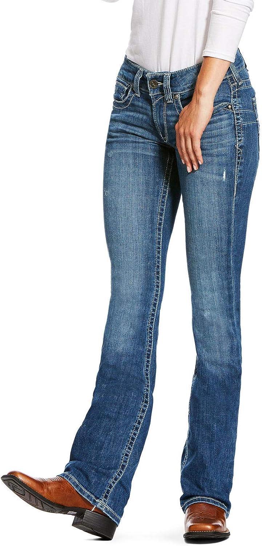 Ariat Womens R.e.a.l Mid Rise Bootcut Jeans