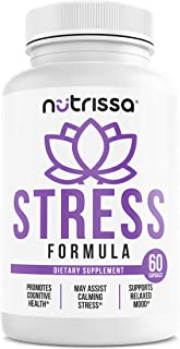 Stress Formula Dietary Supplement - Vitamins B, Calcium, Magnesium, Biotin, Zinc, Potassium & Proprietary Herbal Blend, Na...