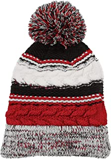 Dri-Wick Cable Knit Winter Pom Pom Beanie Hat in Team Colors