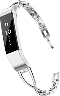 TOYOUTHS Compatible Fitbit Alta Bands and Fitbit Alta HR Bands, Rhinestone Replacement Bands Accessories Straps Wrist Bands for Women