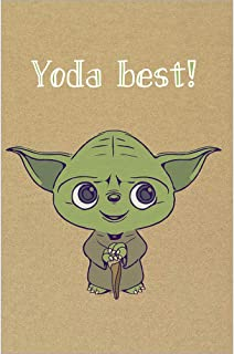 Tree-Free Greetings Thank You Cards with Matching Envelopes for Wedding, Baby Shower, Graduation, 4x6 Inch, Set of 12, Yoda Best (TK30407)