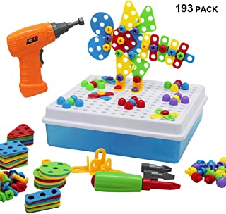 YOFIT Electric DIY Drill Toy Set STEM Toy Early Education Drill Game(193 Pack)