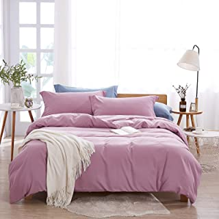 Dreaming Wapiti Duvet Cover,100% Washed Microfiber 3pcs Bedding Duvet Cover Set,Solid Color - Soft and Breathable with Zip...