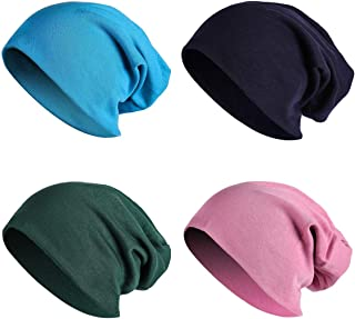 JOYEBUY 4 حزمة النساء الرجال أنيقة رقيقة الهيب هوب لينة تمتد متماسكة مترهل قبعة الجمجمة كاب