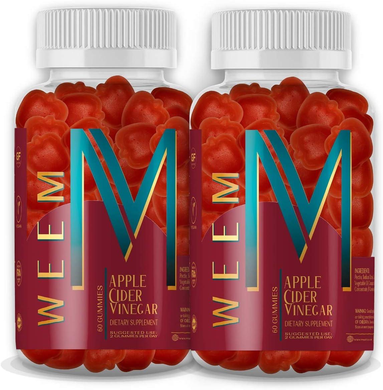 WEEM Apple Cider Los Angeles Mall Vinegar Gummies - Genuine ACV Folic Vegan with Natural