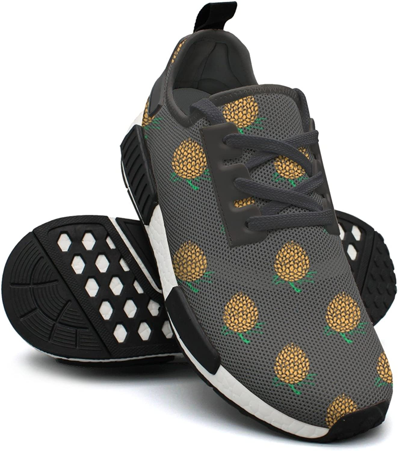 Young Pineapple On Dark Background Jogging shoes For Women Nmd Gym Running shoes