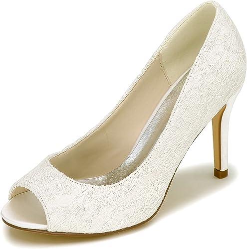 Elobaby zapatos De Boda De Las mujeres zapatos De Tacones Altos Y5623-12A Tallas 35-42 Bombas Cerrados   9cm TalóN Vestido
