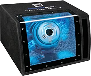 Dual Electronics SBP8A 8 inch illumiNITE High Performance Powered Enclosed Subwoofer with..