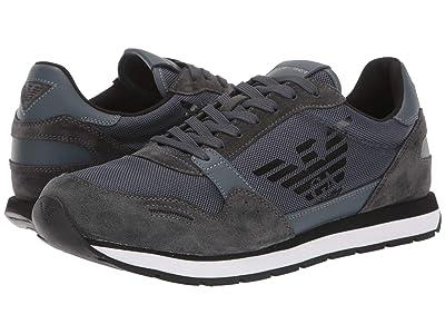 Emporio Armani Eagle Sneaker (Slate) Men