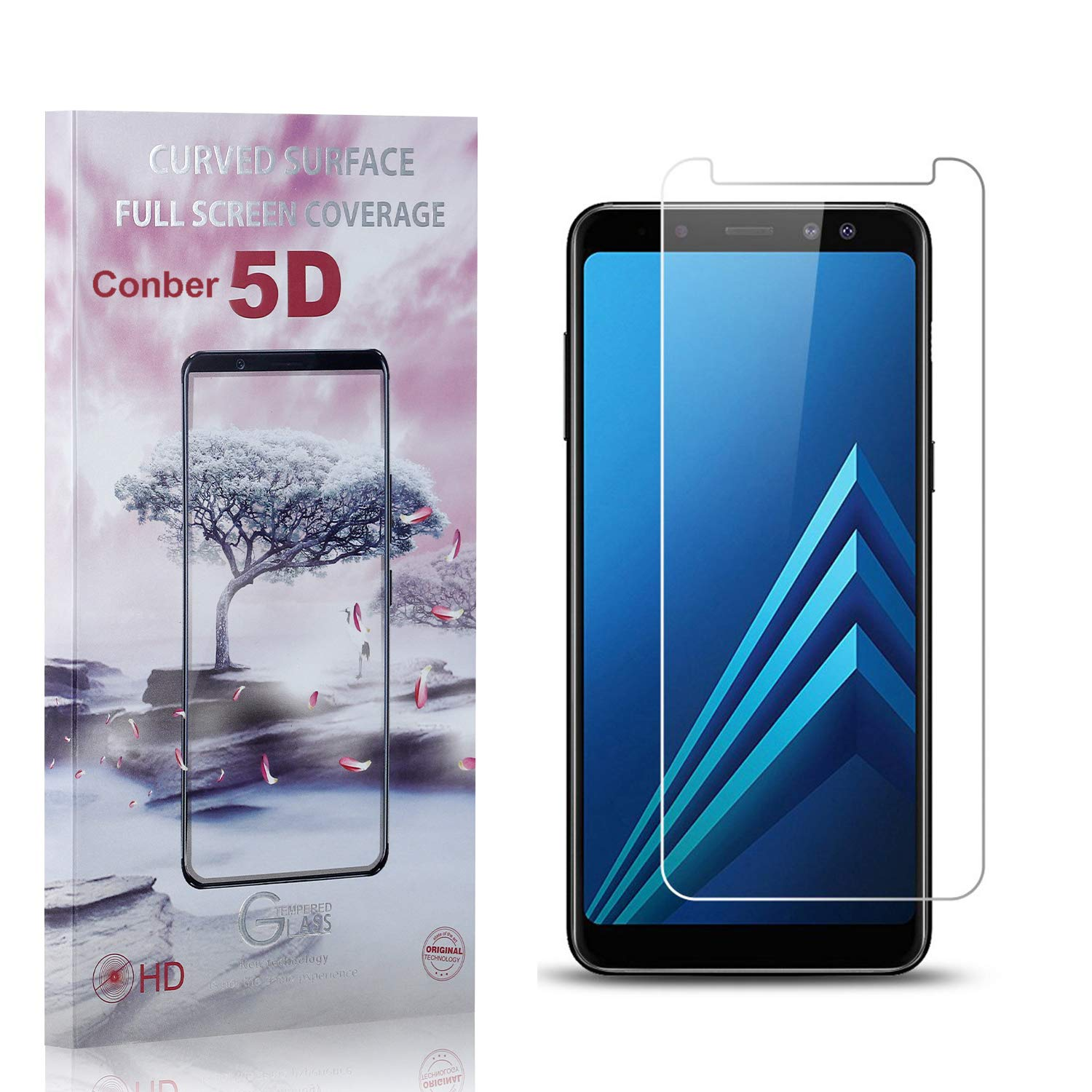 Conber Super sale 1 Pack Screen Protector for Samsung Galaxy A8 An 2018 Max 68% OFF