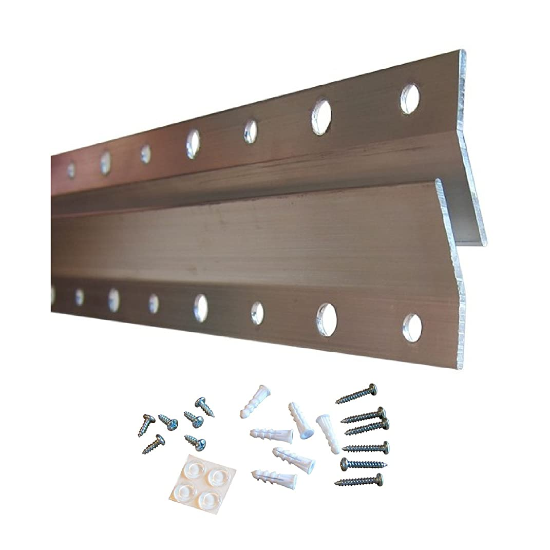 French Cleat Hanger 10 Inch | Picture, Mirror, Whiteboard, Pallet or Panel Wall Mount Brackets | Z Bar Hanger Supports 50 lbs | Bulk 30 Pack