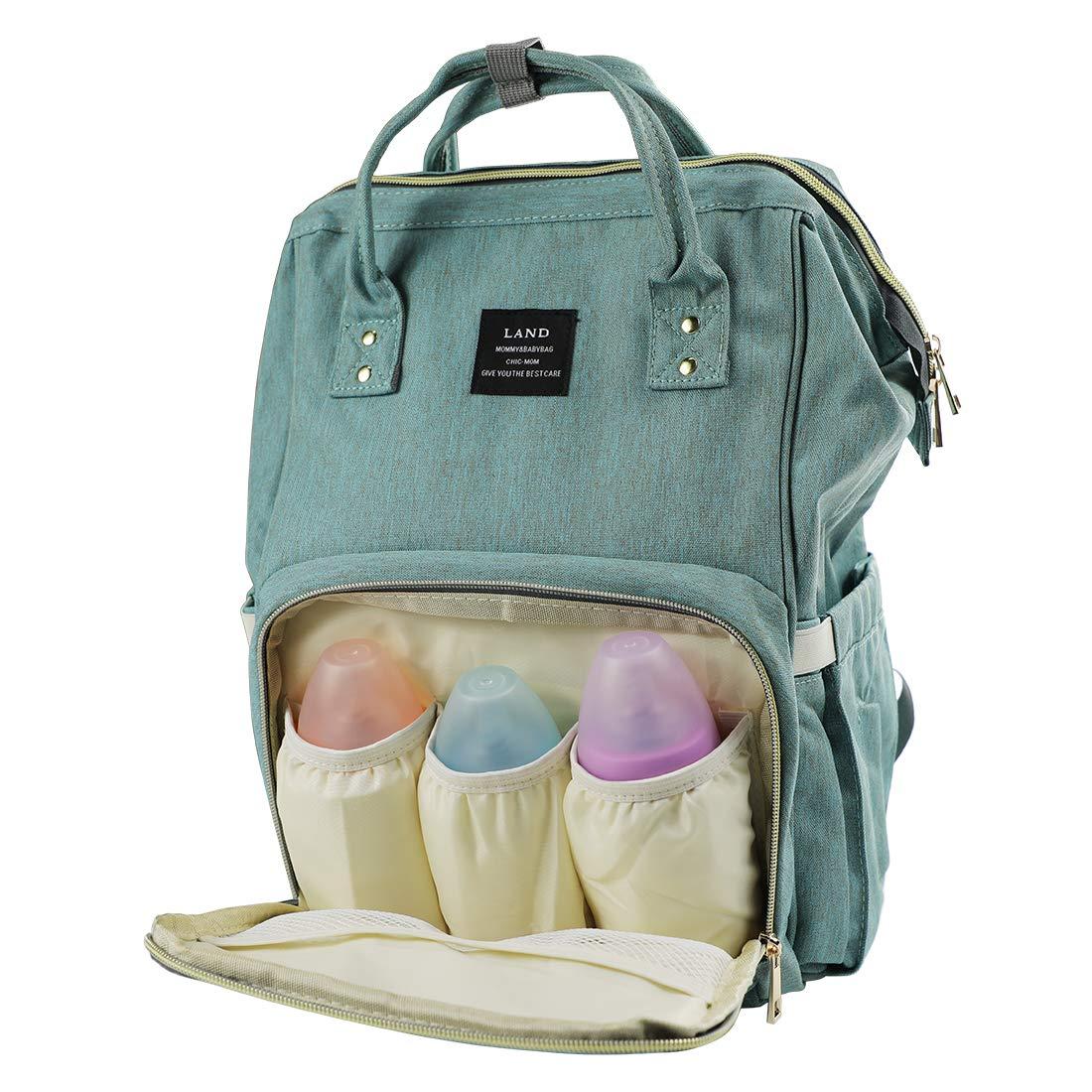 Army Green Newborn Diapers Bag for Boys Girls VAKKER Diaper Bag Backpack