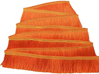 "FQTANJU 1"" wide Decorative polyester Fringe Trim, Lace Trim, 5 yards (orange)"