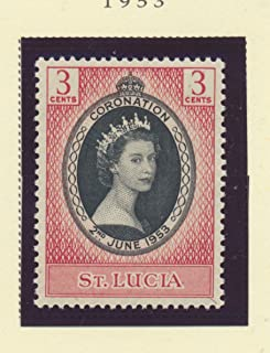St. Lucia Scott #156 - Queen Elizabeth II Coronation, British Commonwealth Common Design Issue From 1953 - Collectible Postage Stamps