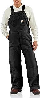 Carhartt Men's FR Duck Bib Lined Overall, Black, 48W X 32L