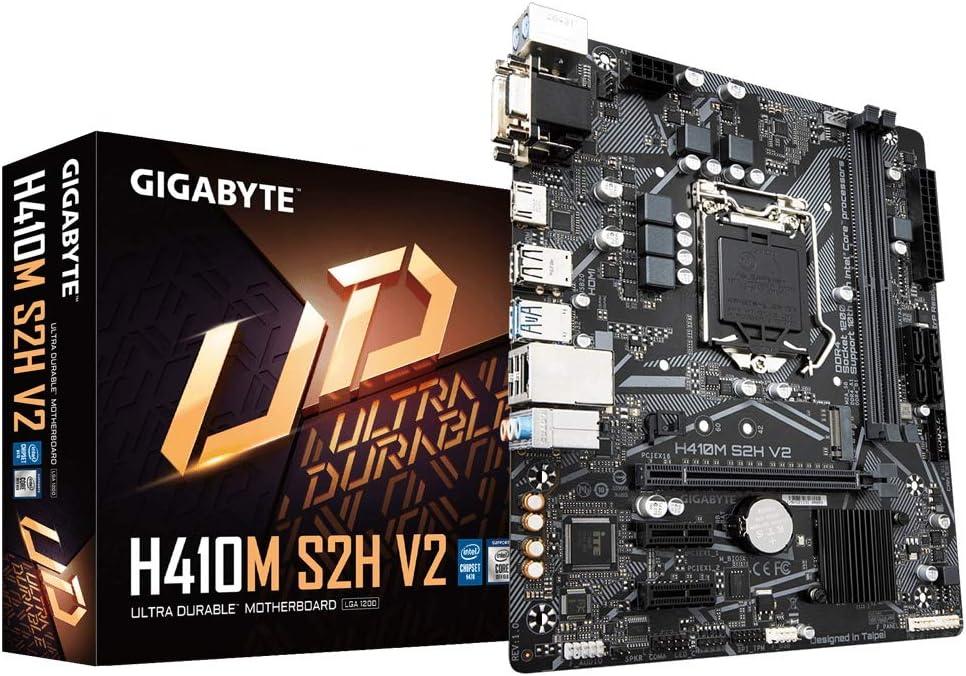 Gigabyte Technology Placa Base H410M S2H V2 Micro ATX para CPU Intel LGA 1200