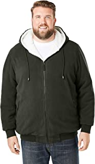 KingSize Men's Big & Tall Fleece-Lined Drawstring Hoodie
