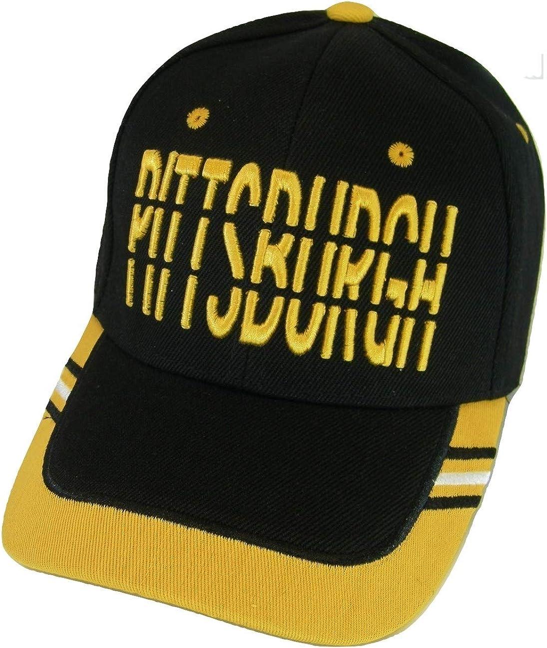Pittsburgh Window Shade Font Men's Adjustable Baseball Cap