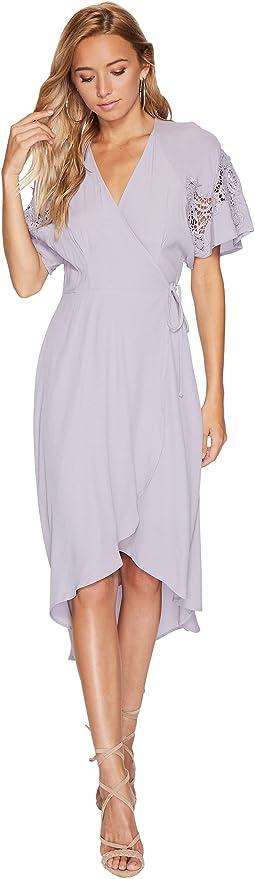 ASTR the Label - Crochet Patch Sleeveless Wrap Dress