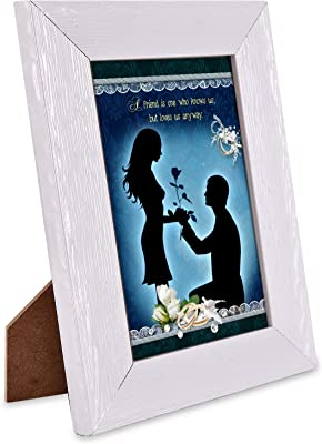 Happy Propose Day Valentines Day Quotation Photo Frame & Mug Hamper with 5 Roses Heart