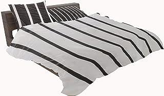 طقم ملاية سرير من القطن التركي مقاس كينج بلس بنمط نقوش متعدد والوان متعددة