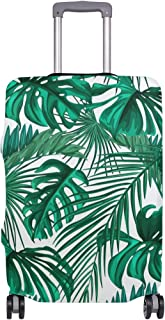 Mydaily Tropical Palm Leaves Luggage Cover Fits 28-29 Inch Suitcase Spandex Travel Protector L