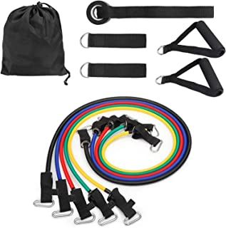 11Pcs Set Elastic Exercises Body Fitness Workout Equipment Fitness Pull Rope Resistance Bands Latex Strength Gym Equipment...