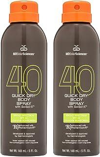 MDSolarSciences Quick Dry Body Spray SPF 40, NonGreasy FastDrying Sunscreen Spray Provides 80 Minutes of WaterResistant Br...