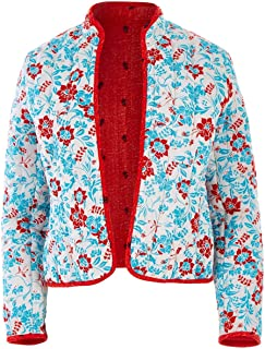 Handpicked by Birds Womens Jackets Reversible Quilted Jacket Reversed