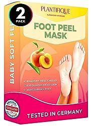 Plantifique Peach Feet Peeling Mask 2 Pack - Dermatologically Tested