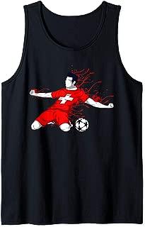 Switzerland National Soccer Team Jersey Swiss Football Lover Tank Top