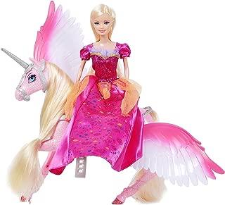 Bettina Princess Doll and Unicorn, Sparkle Unicorn Toys 'n Fashion Doll Set, Unicorn Doll for Girls, Pink