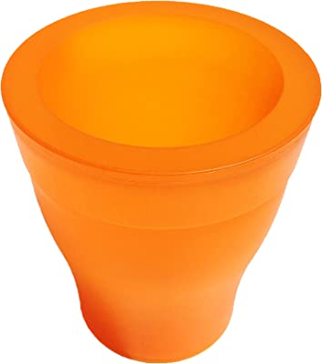 Outlook Design V972A00050 Light Bloom Vase with LED Light Orange
