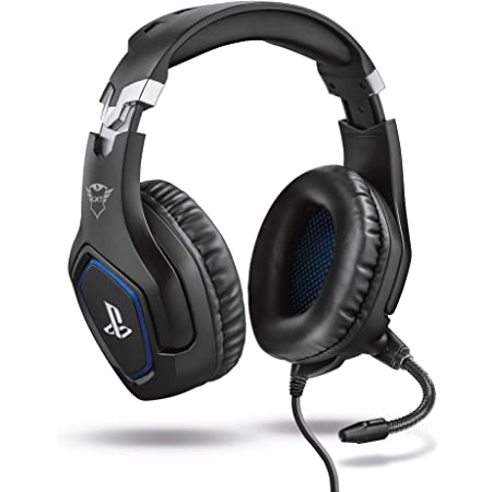 Trust Gaming GXT 488 Forze Cuffie PS4 e PS5 con Licenza Ufficiale PlayStation, Microfono Ripiegabile e Archetto Regolabile, Nero
